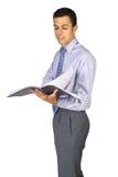Homem de negócio da leitura Fotografia de Stock Royalty Free