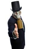 Homem de negócio da máscara de gás Fotografia de Stock