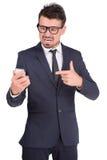 Homem de negócio das emoções Imagem de Stock Royalty Free