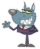 Homem de negócio de ondulação do lobo Fotografia de Stock Royalty Free