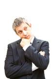 Homem de negócio de pensamento Foto de Stock Royalty Free