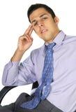 Homem de negócio de pensamento imagens de stock