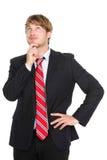 Homem de negócio de pensamento Fotos de Stock Royalty Free