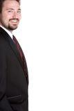 Homem de negócio de sorriso Imagens de Stock Royalty Free