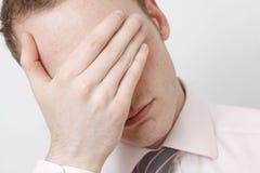 Homem de negócio deprimido Fotografia de Stock Royalty Free