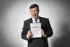 Homem de negócio despedido Foto de Stock