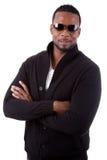 Homem de negócio do americano africano com braços dobrados Fotos de Stock