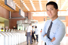 Homem de negócio do Asian imagem de stock