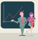 Homem de negócio e mulher de negócio Fotografia de Stock Royalty Free