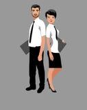 Homem de negócio e mulher de negócio Fotografia de Stock