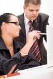 Homem de negócio e mulher de negócio Foto de Stock Royalty Free