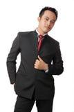 Homem de negócio elegante em um terno Fotografia de Stock