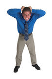 Homem de negócio em #5 azul Foto de Stock