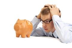 Homem de negócio em um problema Fotografia de Stock Royalty Free