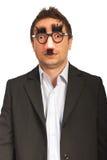 Homem de negócio engraçado espantado imagens de stock royalty free
