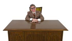Homem de negócio engraçado ou chefe, sorriso grande isolado Foto de Stock Royalty Free