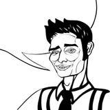 Homem de negócio feio do pop art Imagem de Stock
