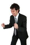 Homem de negócio feliz Fotos de Stock Royalty Free