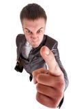 Homem de negócio furioso Fotografia de Stock