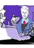 Homem de negócio gráfico ilustração do vetor