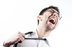Homem de negócio gritando Fotografia de Stock