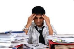 Homem de negócio indiano no trabalho. Foto de Stock
