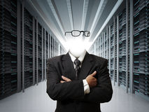 Homem de negócio invisível fotografia de stock
