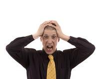 Homem de negócio irritado fotografia de stock