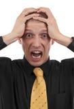 Homem de negócio irritado fotos de stock royalty free