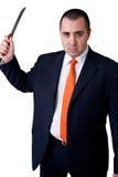 Homem de negócio irritado Fotos de Stock