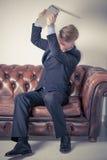 Homem de negócio irritado Foto de Stock Royalty Free