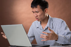 Homem de negócio irritado Imagem de Stock Royalty Free