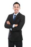 Homem de negócio isolado no fundo branco Foto de Stock Royalty Free