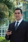 Homem de negócio latin considerável Fotos de Stock Royalty Free