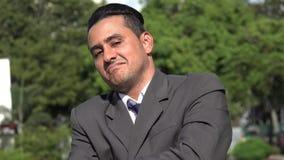 Homem de negócio latino-americano arrogante seguro vídeos de arquivo