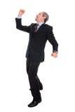 Homem de negócio maduro que quer saber - corpo cheio Fotos de Stock