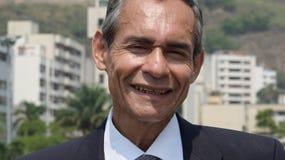 Homem de negócio mais idoso de sorriso imagem de stock
