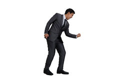 Homem de negócio na ação do sucesso Fotografia de Stock