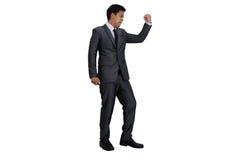 Homem de negócio na ação do sucesso Imagens de Stock Royalty Free