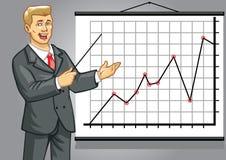 Homem de negócio na apresentação Fotos de Stock Royalty Free