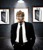 Homem de negócio na armadura fotos de stock royalty free