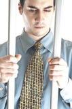 Homem de negócio na cadeia Fotos de Stock