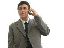 Homem de negócio na pilha Foto de Stock