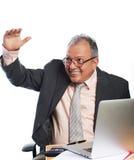 Homem de negócio na reunião Fotografia de Stock Royalty Free