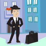 Homem de negócio na rua Ilustração Stock