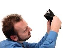 Homem de negócio no azul (nenhum dinheiro) Imagens de Stock
