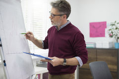 Homem de negócio no escritório Fotografia de Stock Royalty Free