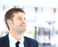 Homem de negócio no negócio Foto de Stock Royalty Free