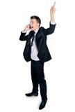 Homem de negócio no telefone imagens de stock royalty free
