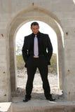 Homem de negócio no terno imagem de stock